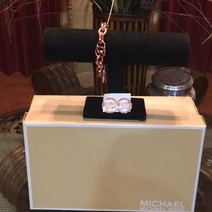Michael Kors Rose Gold Bracelet and Earrings